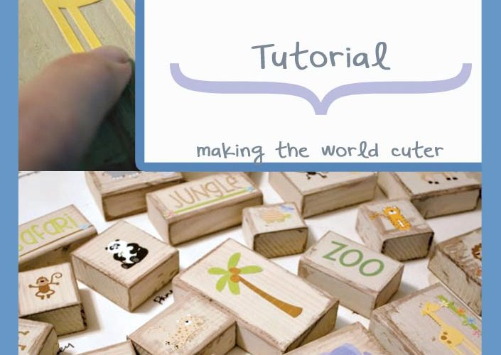 Cute and Easy DIY Blocks Tutorial