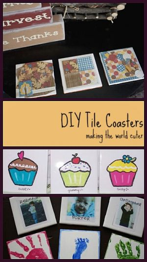 DIY Tile Coasters | Making the World Cuter