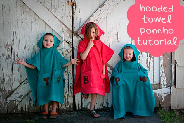 Hooded Towel Poncho Tutorial