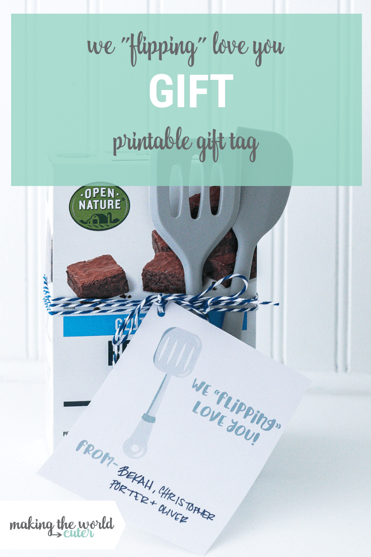 Flippin Cute Gift Idea Printable Gift Tag