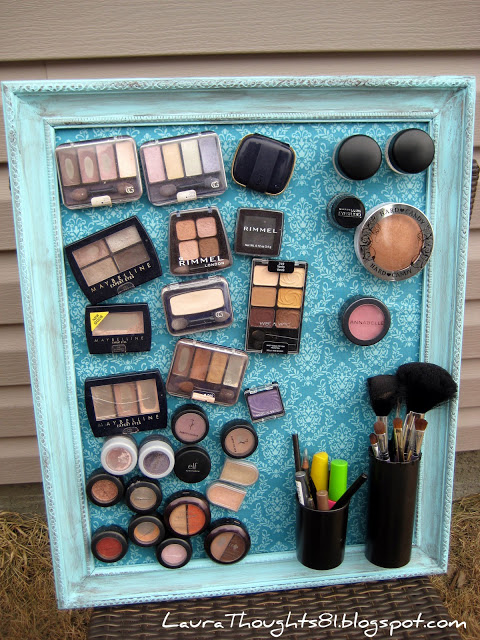 Makeup Magnet Board Tutorial by Laura @ LauraThoughts