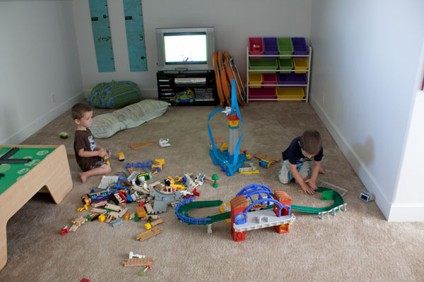 Keeping Playrooms Clean by Rotating Toys