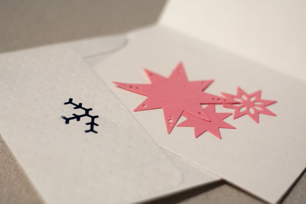 Letterpress Christmas Cards and Envelopes