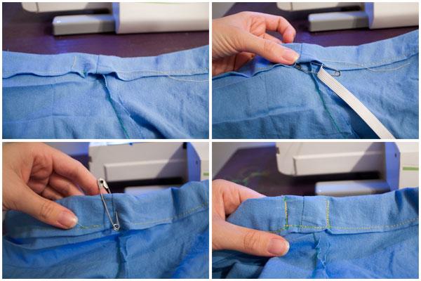 Putting an elastic Waistband into pajama pants