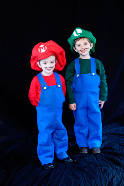 DIY Mario and Luigi Halloween Costumes
