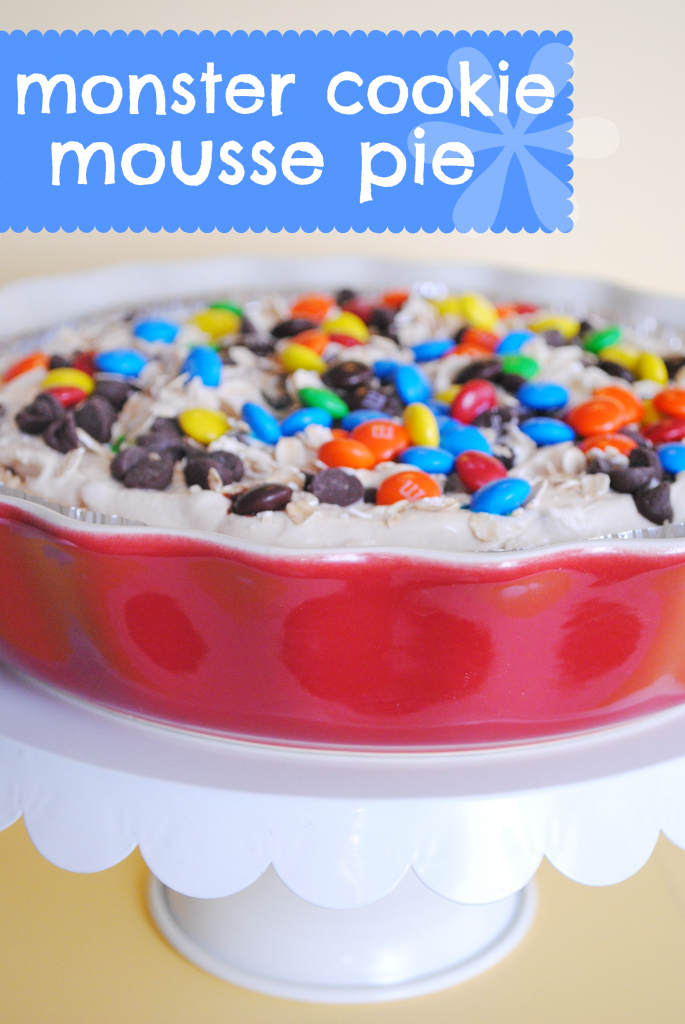 Monster Cookie Mousse Pie Recipe