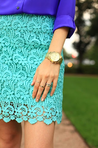 Bright Lace Skirt