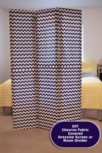 DIY Chevron Room Divider