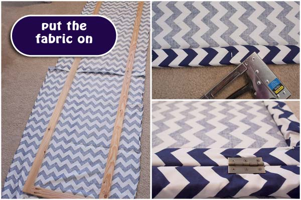 DIY Room Divider Dressing Screen Chevron Fabric Project