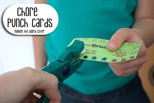 Chore Punch Cards for Kids with Printable
