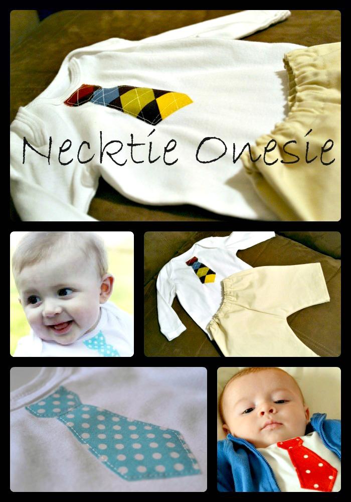 Sew a Necktie Onesie
