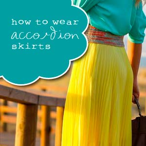 How to Wear Accordion Skirts