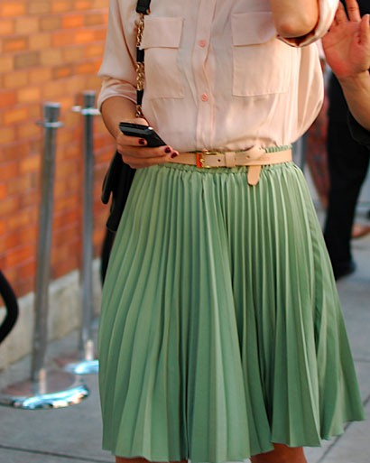 Knee Length Accordion Skirt