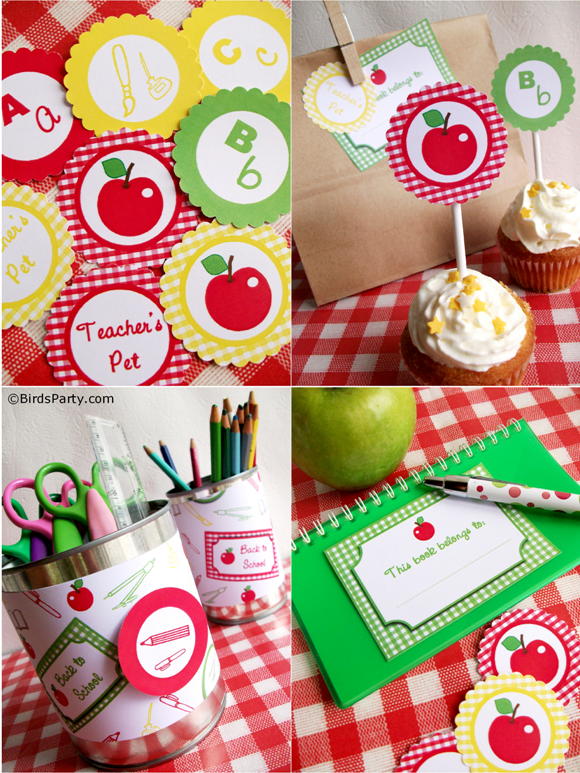 Back to School Party Ideas + FREE Printables