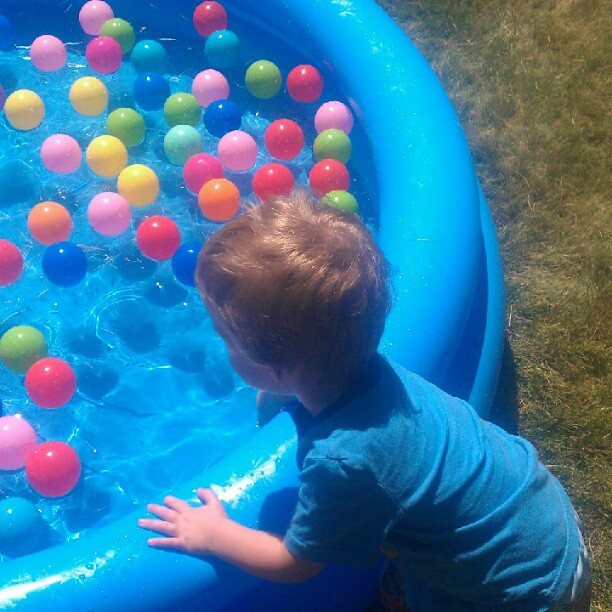 Kiddy Pool with Colorful Balls in It