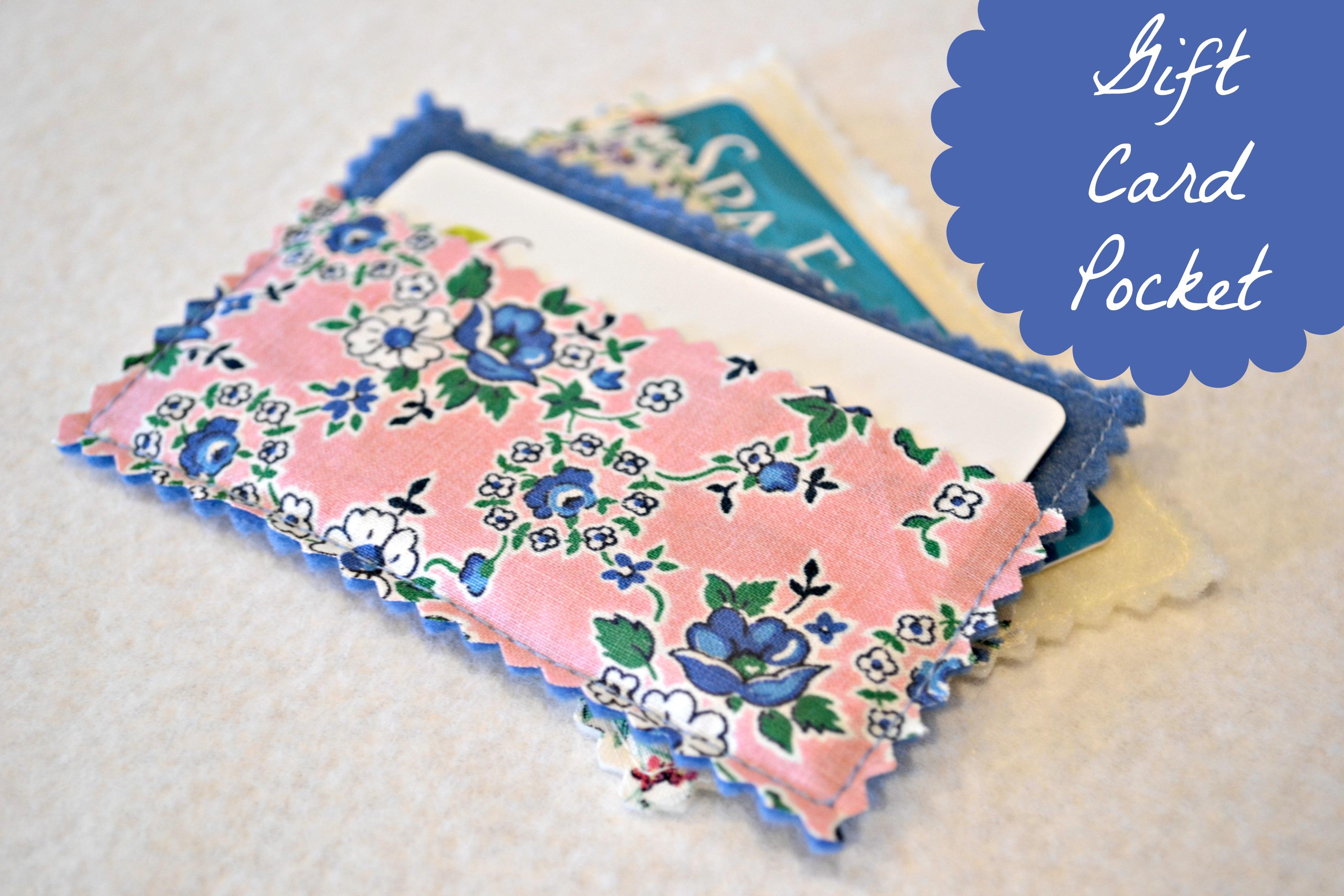 Gift Card Pocket Tutorial