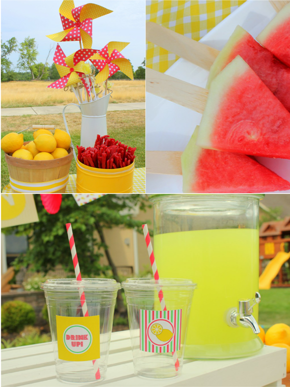 Watermelon and Lemonade Stand Free Printables