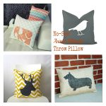 No sew animal silhouette pillow