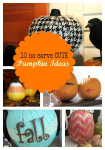 Cute Things | 10 No Carve Pumpkin Ideas