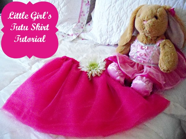 Cute little girl's tutu tutorial