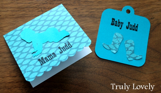 baby gift tag and card