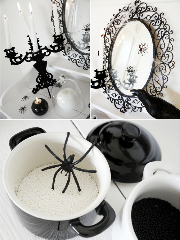 Monochromatic Halloween Decorating Ideas