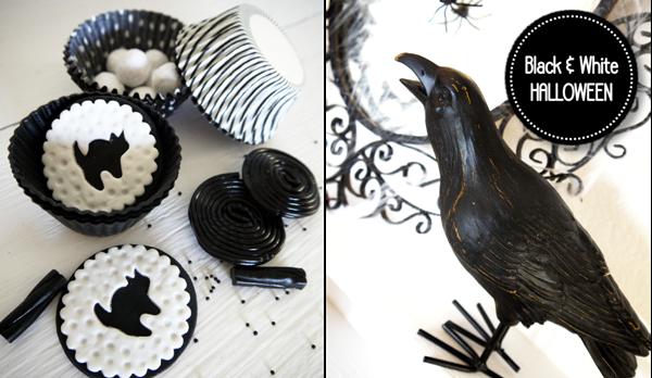 black white halloween printables party ideas supplies shop buy
