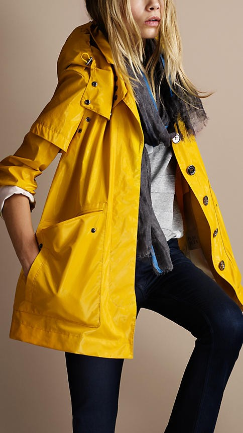 Outerwear for women fall 2012 fall trends for Boden yellow raincoat