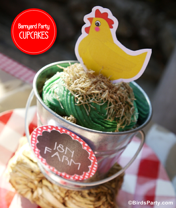 DIY Barnyard Party Cupcakes