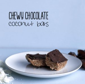 Chewy Chocolate Coconut Bars | Paleo No Bake Cookie Bar