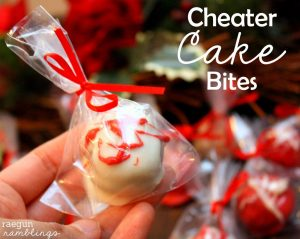 Cheater Cake Bites