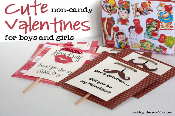 Valentine Cards for Boys and Girls No Candy – Candy Valentine Card