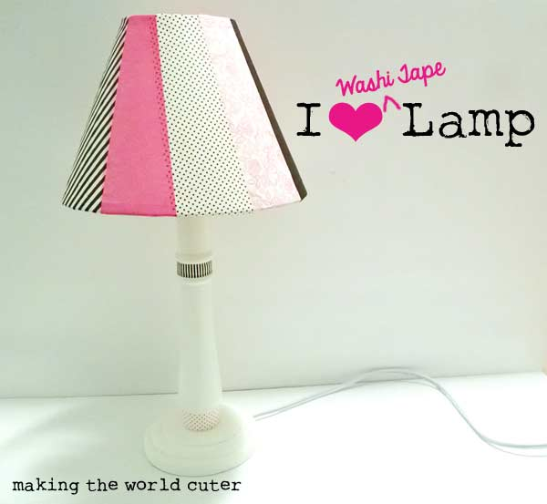 Washi Tape Lamp