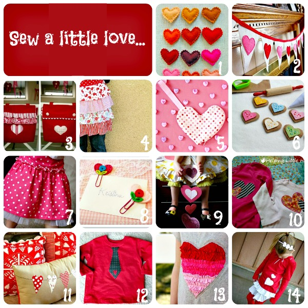 14 Valentine's Day Sewing Crafts