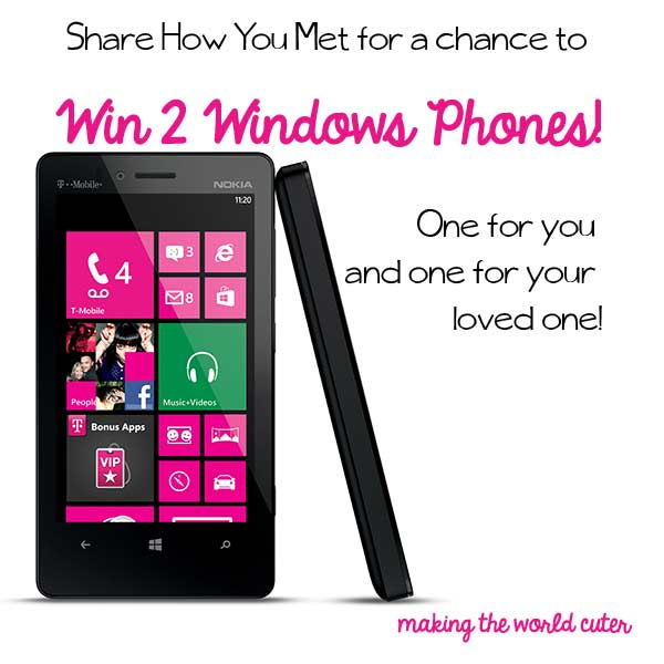 Giveaway! Win TWO new Windows Phones #MeetYours