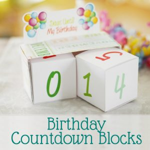 Birthday Countdown Free Printable