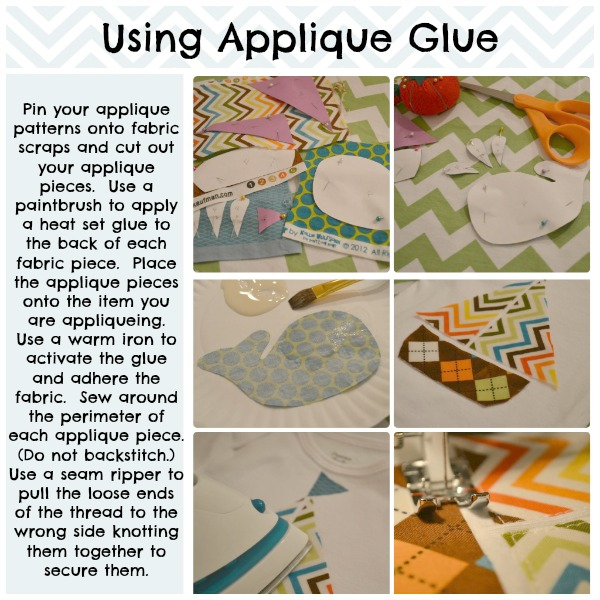 using applique glue