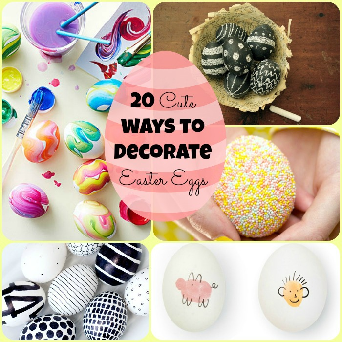20 Cute Ways To Decorate Easter Eggs