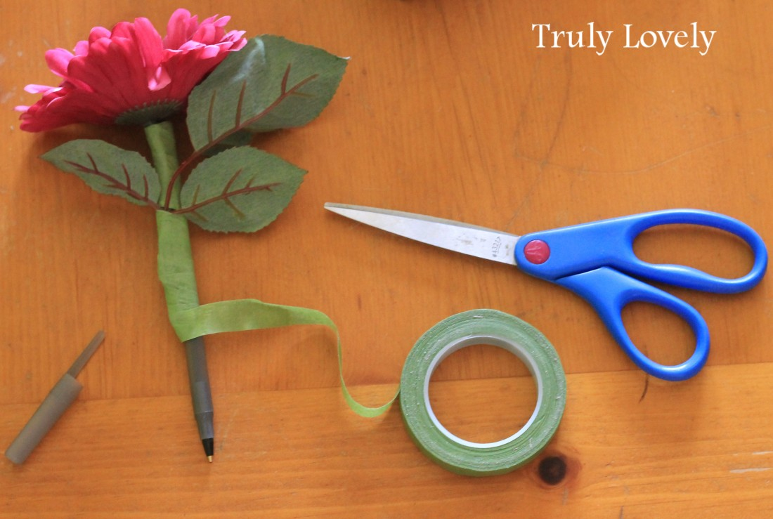how to: flower pens craft
