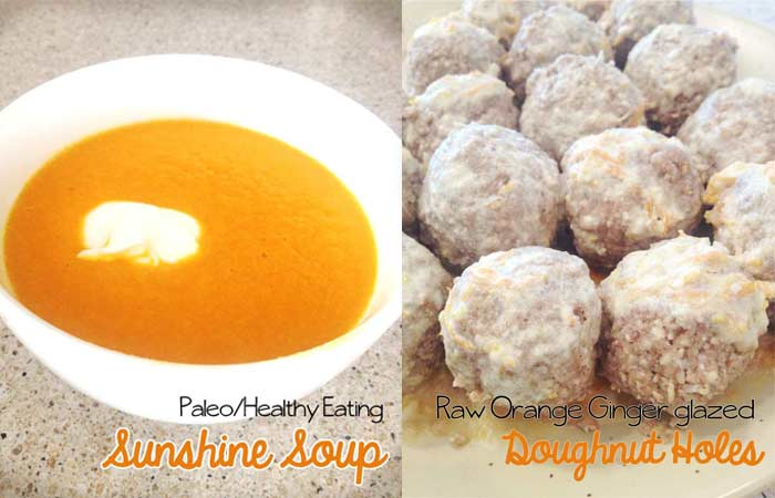 Sunshine Soup and Orange Ginger Doughnut Holes