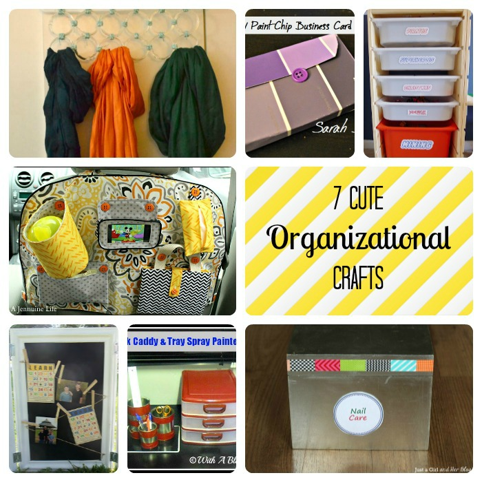 7 Cute Organizational Crafts | Making the World Cuter Monday