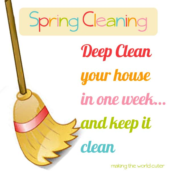 Spring Cleaning | Deep Clean Your Whole House in a Week