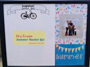 Dry Erase Summer Bucket List DIY