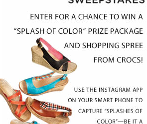 Crocs #SplashofColor Sweepstakes