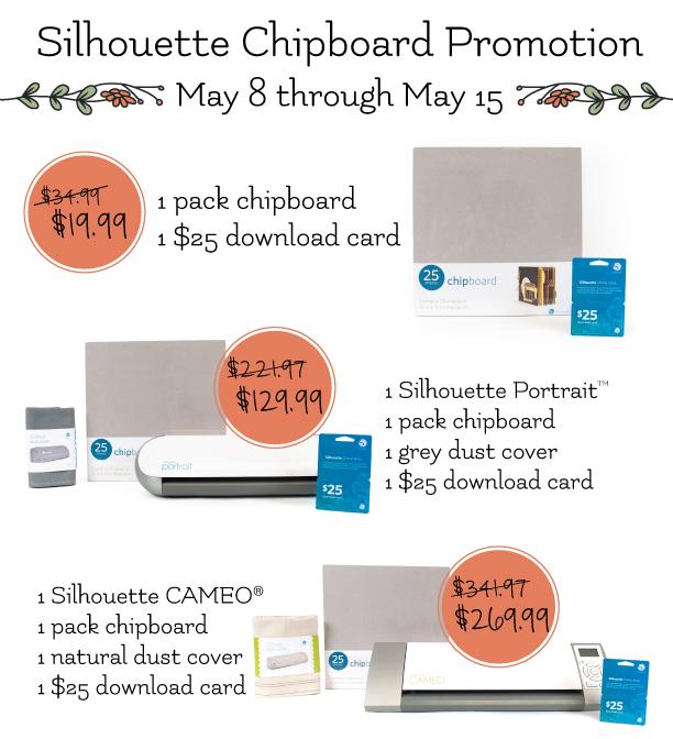 Silhouette Chipboard Promo