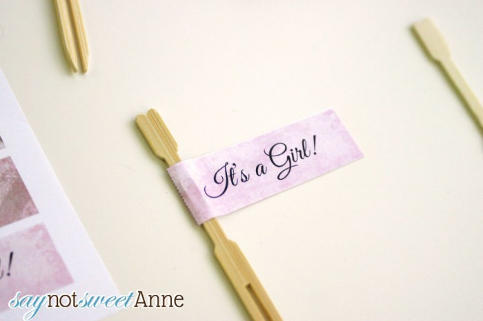 Cute Printable Baby Shower Cupcake Flags - Via Making The World Cuter & Saynotsweetanne.com