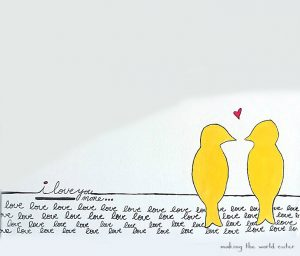 Love bird art on canvas by making the world cuter