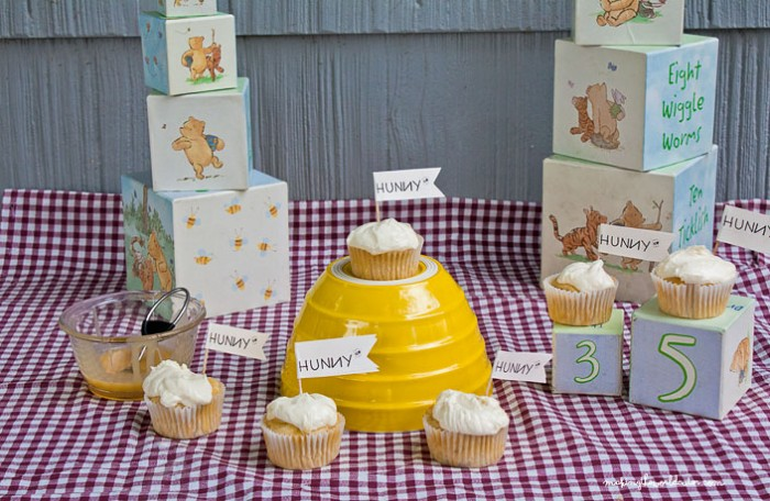 Hunny Pot Cupcakes 35th Anniversary of The Many Adventures of Winnie the Pooh