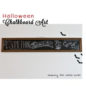 Halloween Chalkboard Art Making the World Cuter