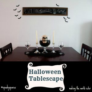 Halloween Tablescape Spooky Spaces
